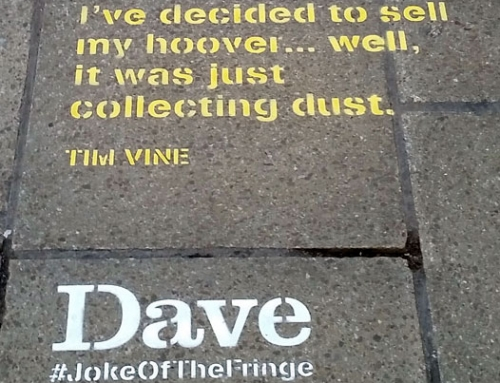 Dave Fringe Street Advertising: Comedy On The Streets