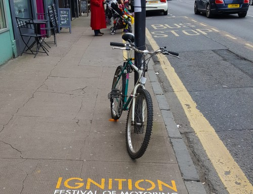 Ignition Festival Street advertising in Glasgow